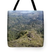 Looking Down From The Top Of Mount Tamalpais Tote Bag