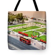 Looking Down Happy Dubai Tote Bag