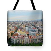 Looking Down On Barcelona From The Sagrada Familia Tote Bag