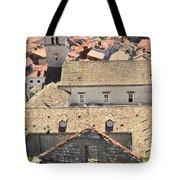 Looking Down On Old Dubrovnik Tote Bag
