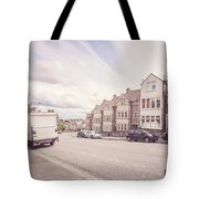 Looking Down Redland Road D Bristol England Tote Bag