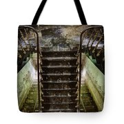 Looking Down The Stairs - Urban Exploration Tote Bag