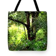 looking into the Jungle Tote Bag