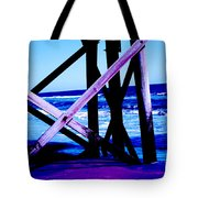 Looking On - Blue Tote Bag