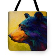 Looking On II - Black Bear Tote Bag