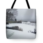 Looking Out From A Porch To The River Tote Bag