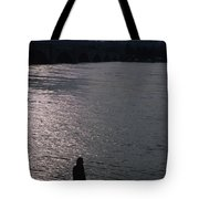 Looking Out Over A Flooded Potomac Tote Bag