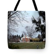 Looking Out Over The Horse Farm Tote Bag