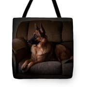 Looking Out The Window - German Shepherd Dog Tote Bag