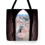 Looking Out The Window On Siena Tote Bag
