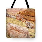 Looking Skyward From Wash 3 In Valley Of Fire Tote Bag