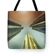 Looking Straight Up Tote Bag