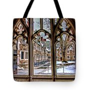 Looking Through An Arched Window At Princeton University At The Courtyard Tote Bag