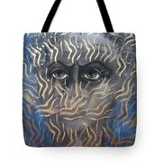 Looking Through Fire Tote Bag
