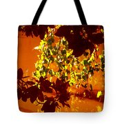 Looking Through Leaves Into Pond Tote Bag