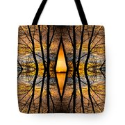Looking Through The Trees Abstract Fine Art Tote Bag