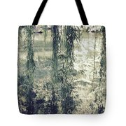 Looking Through The Willow Branches Tote Bag