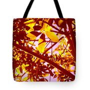 Looking Through Tree Leaves 2 Tote Bag