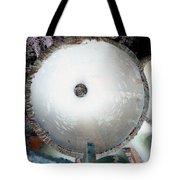 Looking Thru A Pipe...negative Tote Bag