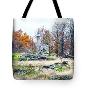 Looking Towards The Top Of Little Round Top Tote Bag