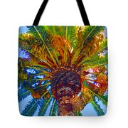 Looking Up At Palm Tree  Tote Bag