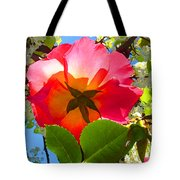 Looking Up At Rose And Tree Tote Bag