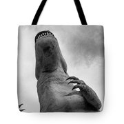 Looking Up At T-rex Tote Bag