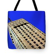 Looking Up At The Foshay Tower Tote Bag
