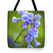 Looking Up At Virginia Bluebells  Tote Bag