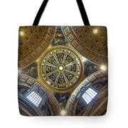 Looking Up In St Peter's Basilica Tote Bag