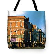 Looking Up Main Street Tote Bag