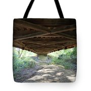 Looking Up Nevins Bridge Indiana Tote Bag