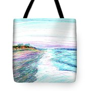 Looking Up The Beach Tote Bag