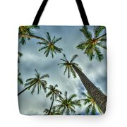 Looking Up The Hawaiian Palm Tree Hawaii Collection Art Tote Bag