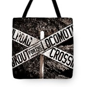Lookout For The Locomotive Tote Bag
