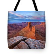 Lookout Point Sunrise Tote Bag