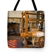 Loom And Fireplace In Settlers Cabin Tote Bag