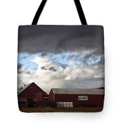 Looming Storm In Sumas Washington Tote Bag