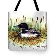 Loon And Baby Judy Filarecki Watercolor Tote Bag