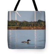 Loon And Windmills Tote Bag