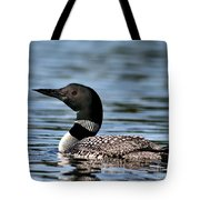 Loon In Blue Waters Tote Bag