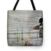 Loon On A Northern Minnesota Lake Tote Bag