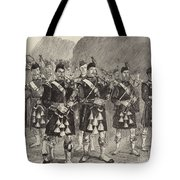 Lord Archibald Campbell And His Pipers Marching Through The Pass Of Glencoe Tote Bag