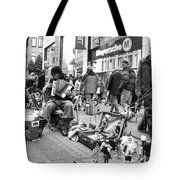 Lord Of The Dance Black And White Tote Bag