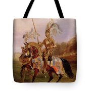 Lord Of The Tournament Tote Bag by Edward Henry Corbould