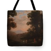 Lorena, Claudio De Chamagne, 1600 - Roma, 1682 Ford Of A River Ca. 1636 Tote Bag