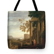 Lorena, Claudio De Chamagne, 1600 - Roma, 1682 Landscape With The Burial Of Saint Serapia Ca. 1639 Tote Bag