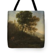 Lorena, Claudio De Chamagne, 1600 - Roma, 1682 Setting Out With The Herd 1636 - 1637 Tote Bag