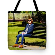 Lorna On A Bench Tote Bag