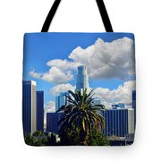 Los Angeles And Palm Trees Tote Bag